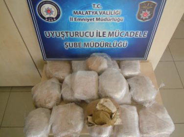 Malatya'da 19 kilo 50 gram toz esrar maddesi ele geçirildi