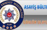 Malatya Asayiş Bülteni Günlük Olaylar 10 – 16 Aralık 2018