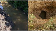 Derme Sulama Birligi Battalgazi'de kanalizasyon borularını kırarak sulama yapıyor Video Haber