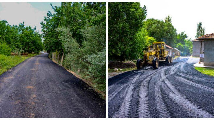 Akçadağ Ören'de 8, Bölüklü de 4.5 km asfalt çalışması yaptı