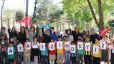 Ülkü Ocakları Hürriyet Çocuk Parkında yüz boyama, bayrak ve balon dağıtımı gerçekleştirdi.