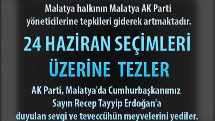 AK Parti, Malatya'da Cumhurbaşkanımız Sayın Recep Tayyip Erdoğan'a duyulan sevgi ve teveccühün meyvelerini yediler