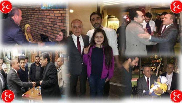 MHP M.Vekili Adayı Ömer Ekiciye Siyaset Üstü Karşılama