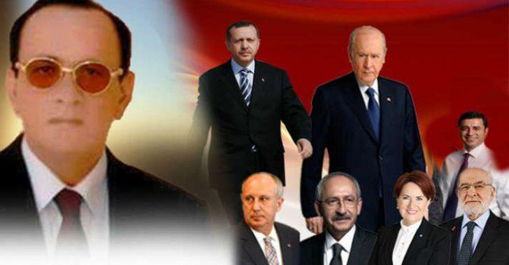 Kırıkkale Keskin T Tipi Cezaevinde kalan Alaattin Çakıcı Basın Danışmanı Gazeteci Ferhat Aydoğan aracılığı ile seçim öncesi flaş basın açıklaması yaptı.