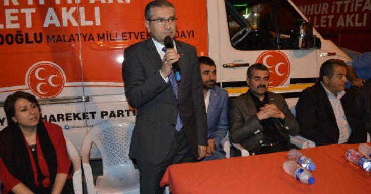 (MHP) Malatya Milletvekili Adayı Dr. Burhan Coşkun:Bizler Cumhur İttifakı'nın ve Cumhurbaşkanlığı Hükümet Sistemi'nin teminatı, savunucusu olacağız.