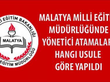 Malatya Milli Eğitim Müdürü Ali Tatlı'ya Sorular, Yönetici Atamalarını Hangi Usule Göre Yapıldı