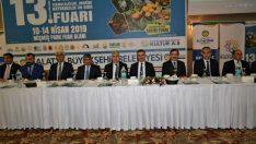 Vali Aydın Baruş 13. Doğu ve Güneydoğu Anadolu Tarım Teknolojileri, Makine, Hayvancılık ve Gıda Fuarı bilgilendirme programına katıldı.