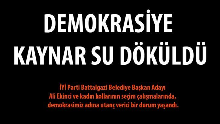 DEMOKRASİYE KAYNAR SU DÖKÜLDÜ