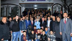 Çınar, 31 Mart'ta gerçekleştirilecek olan Mahalli İdareler Seçimleri kapsamında Gündüzbey'de vatandaşlarla bir araya geldi.
