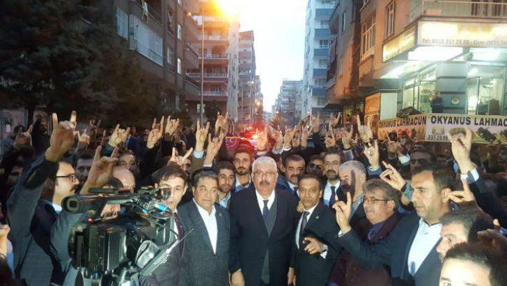 MHP Diyarbakır İl teşkilatının yeni hizmet binası açılışı yapıldı. Açılışa MHP Genel Başkan Yardımcısı Semih Yalçın'da katıldı.