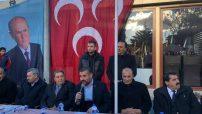 Avşar, Yeşilyurt İlçe teşkilatının Cumhur İttifakı adayı Adayı Mehmet Çınar için açık hava mitingi düzenledi.