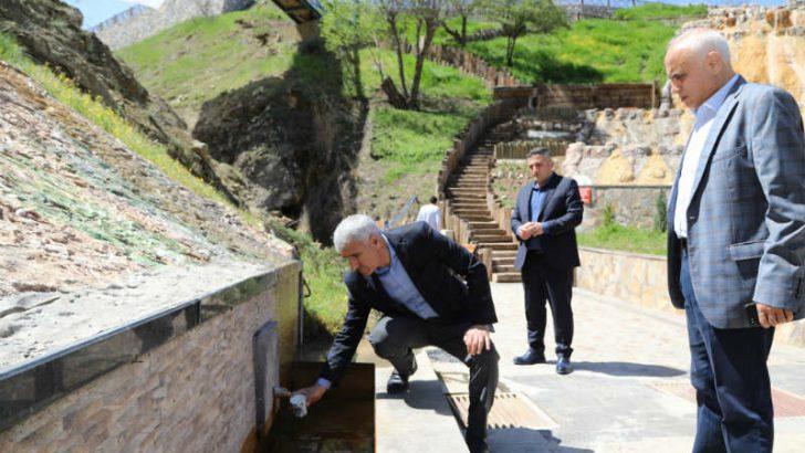 Güder, İspendere İçmeleri'nin sağlık turizmine kazandırılması için çalışmalara hız verileceğini söyledi.