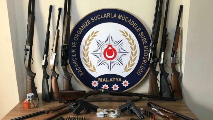 Malatya'da Silah Ticareti ve Kaçakçılığı yapan 10 Şahıs Gözaltına Alındı.