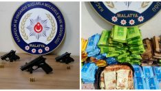 Malatya'da Ruhsatsız Tabanca ve Kaçak Nargile Tütünü Ele Geçirildi