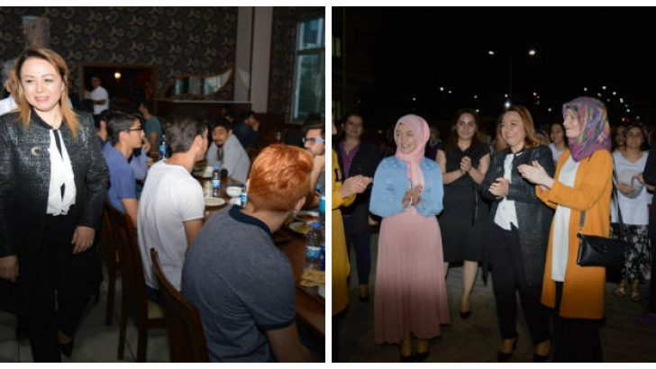 Rektör Karabulut, iftarda ve sahurda öğrenci yurtlarını ziyaret etti.