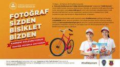 """""""Karnemi Dolduruyorum Trafiğe Güvenle Çıkıyorum"""" sloganıyla 100 çocuğa 100 bisiklet yarışması"""