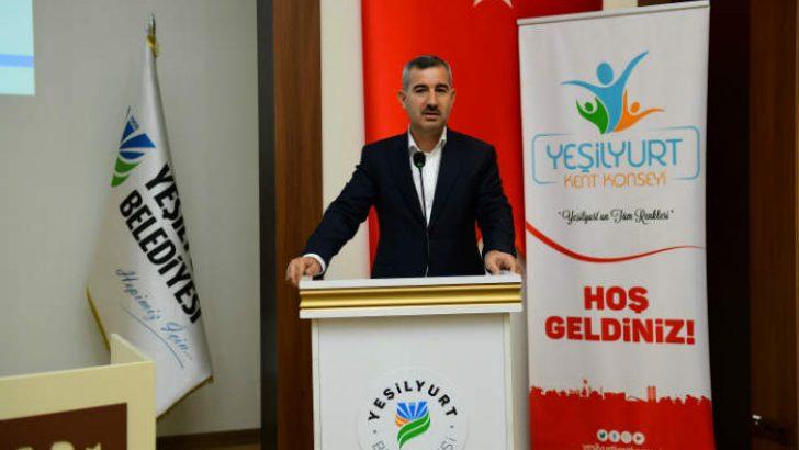 Yeşilyurt Belediye Başkanı Mehmet Çınar,Yeşilyurt Kent Konseyinin yeni Başkanı olarak seçildi.
