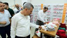 Yeşilyurt Belediye Başkanı Mehmet Çınar, yeni hizmet binasına taşınan Emanet Çarşı'yı ziyaret etti