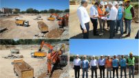 Güder, Battalgazi Devlet Hastanesi inşaat alanında incelemelerde bulundu.