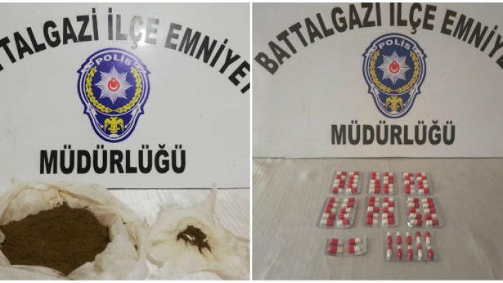 Malatya'da Sentetik kannabinoid (BONZAİ ) maddesi ele geçirildi