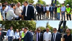 Şahnahan Mahallesinde 60 km'lik altyapı yatırımı bitmek üzere