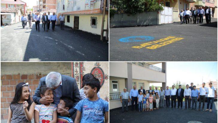 Başkan Güder, Hanımınçiftliği Mahallesinde Sıcak Asfalt Çalışmalarını Yerinde İnceledi