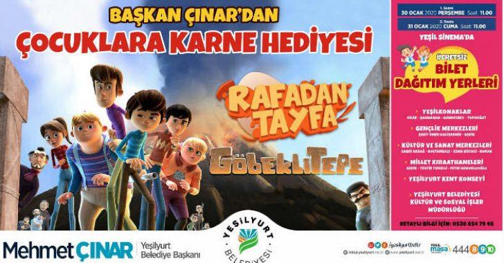 30 ve 31 Ocak'ta saat 11:00'de Yeşil Sinema'da 'Rafadan Tayfa; Göbeklitepe' filmini izleyeceğiz.