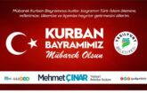 """Yeşilyurt Belediye Başkanı Mehmet Çınar, """"Kurban ibadeti , Allah'a manen ve ruhen yakınlaşmanın eşsiz bir fırsatıdır"""