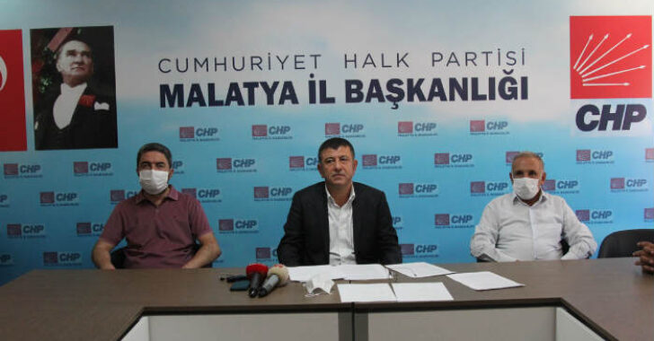 CHP Malatya Milletvekili Veli Ağbaba'nın basın toplantısında Malatya ile ilgili değerlendirmeleri