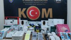 Malatya'da Kaçak Telefon Aksesurları Ele Geçirildi