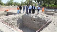 Şahabiyye-i Kübra Medresesi'nde devam eden kazı çalışmaları