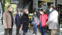 Güder, Fuzuli Caddesi'nde bulunan esnafları ziyaret ederek, sorun ve talepleri yerinde dinledi
