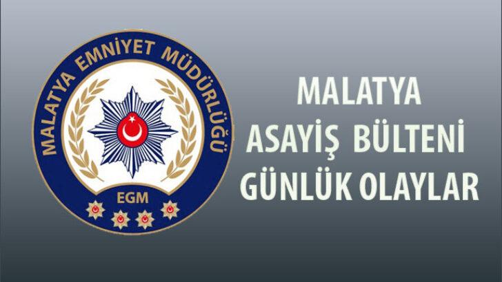 Malatya Asayiş Bülteni Günlük Olaylar 18 – 24 Ocak 2021