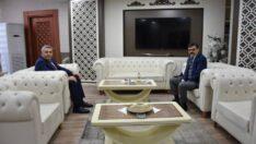"""Başkan Sadıkoğlu'ndan emniyet müdürüne ziyaret """"176 yıldır kutsal bir görevi ifa ediyorlar"""""""