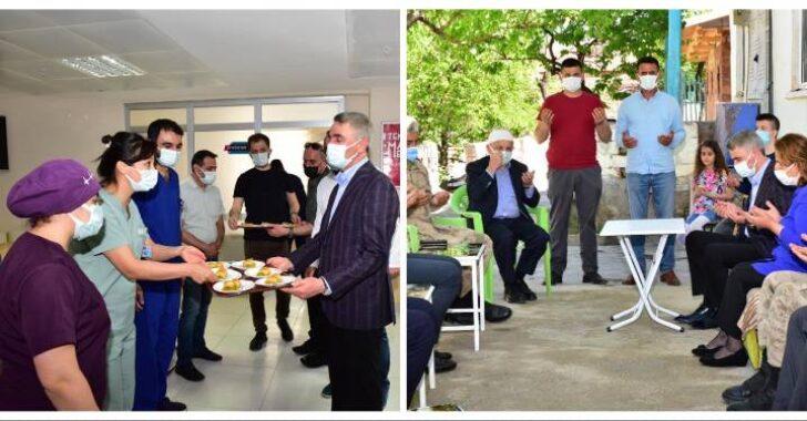 Vali Aydın Baruş, Sağlık Çalışanlarının ve Şehit Ailelerinin Bayramını Kutladı