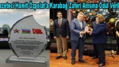 Hamit Özpolat'a Karabağ Zaferi Anısına Ödül Verildi