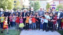 """Battalgazi Belediyesi tarafından İskender Mahallesinde yapımı tamamlanan """"Şehit Fethi Öncü"""" parkı düzenlenen törenle hizmete açıldı."""